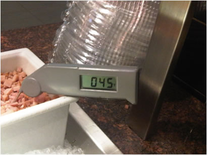 Examples of Violations during NYC Restaurant Health Inspections: Temperature violation